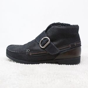 Eddie Bauer Black/Brown Loafer Ankle Boots Lined 8